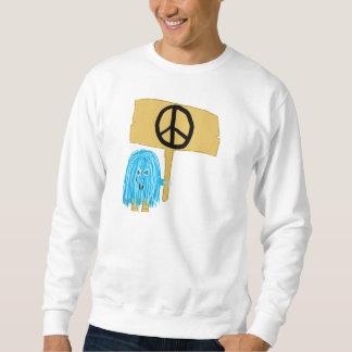 Teal Peace Sign Sweatshirt
