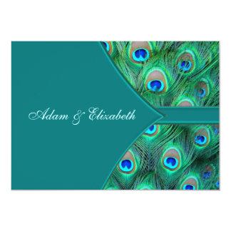 Teal Peacock Elegant Peacock Wedding Invitation