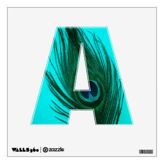 Teal Peacock Feather A Room Decal