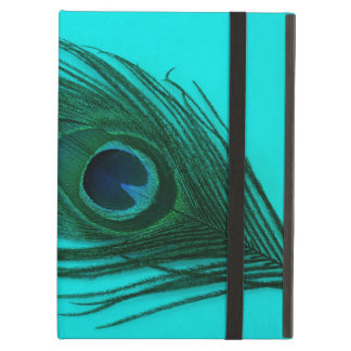 Teal Peacock Feather iPad Air Cases