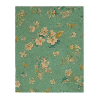 teal,peacock,white cherry,blossom,pattern,trendy, cork paper print