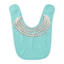 Teal/Pearl Jewelry Bibs