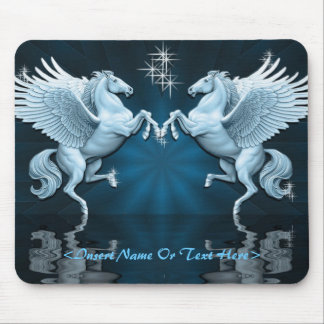 Teal Pegasus Reflections Mouse Pad
