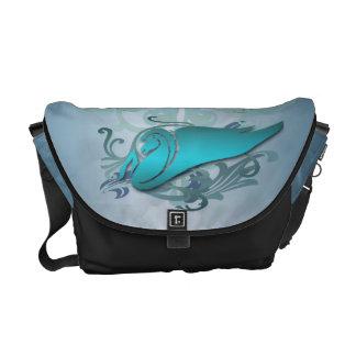 Teal Pegasus Urban Messenger Bag