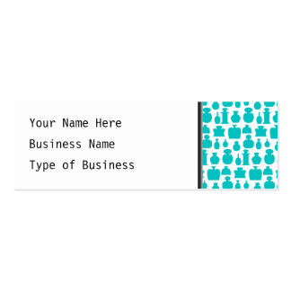Teal Perfume Bottles Pattern. Business Cards