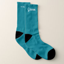 Teal Personalized Groom Wedding Socks