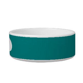 Teal Pet Food Bowls