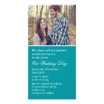 Teal Photo Cards Wedding Invites