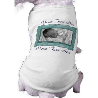 Teal Photo Frame Pet Clothing