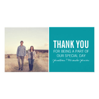 Teal Photo Thank You Cards Photo Card