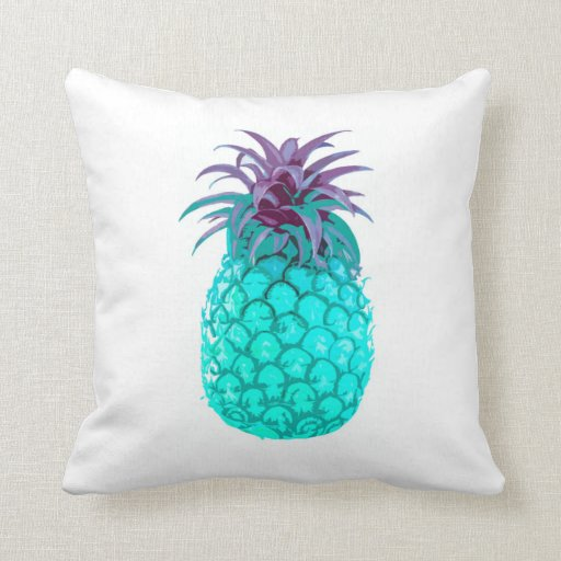 Teal Pineapple Cushion Pillow