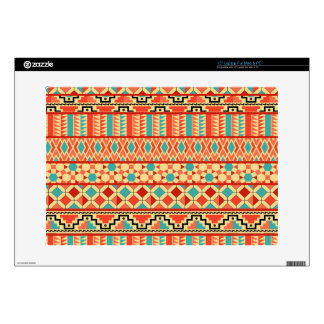 Teal Pink Abstract Geo Aztec Tribal Print Pattern Skin For Laptop