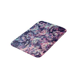 Teal, Pink, and Black Granite Marble Pattern Bathroom Mat