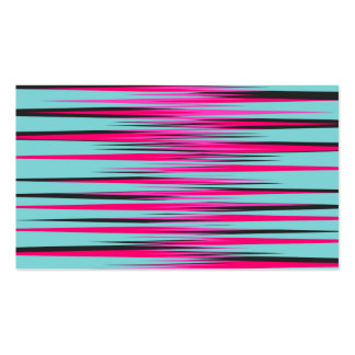 Teal, PInk, & Black Stripes Business Card
