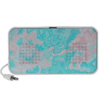 Teal Pink Marblized Abstract Doodle Notebook Speakers