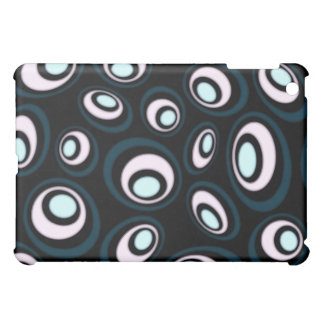 Teal & Pink Offset Retro Ovals Cover For The iPad Mini