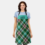 Teal & Pink Plaid Paris Apron