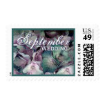 Teal & Pink SEPTEMBER WEDDING Hydrangea Stamp