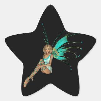 Teal Pixie 3D -1 Star Sticker
