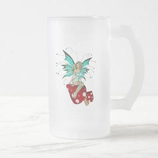 Teal Pixie & Mushrooms 3D Coffee Mug