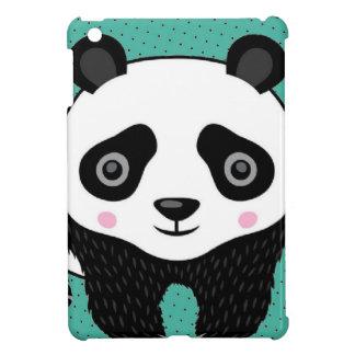 Teal  Polka Dot Panda iPad Mini Case