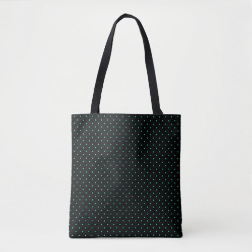 Teal Polka Dot Pattern on Your Background Color Tote Bag