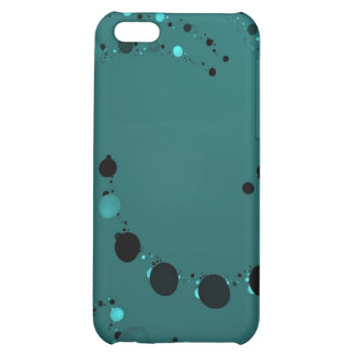 teal polkadot fractal iphone case iPhone 5C cover