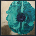 "Teal Poppy Cloth Napkin<br><div class=""desc"">Teal Poppy</div>"