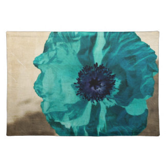 Teal Poppy Cloth Placemat