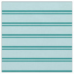 [ Thumbnail: Teal & Powder Blue Colored Lines/Stripes Pattern Fabric ]