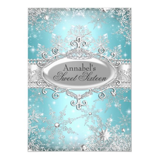 Teal Princess Winter Wonderland Sweet 16 Invite  Zazzlem. Sample Cover Letter For Students Template. Bitconnect Compound Interest Spreadsheet. My Class Schedule Maker Template. Journal Template For Pages Template