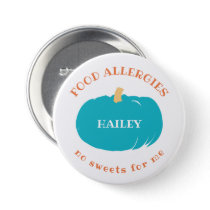 Teal Pumpkin Allergy Alert Kids Halloween Custom Button