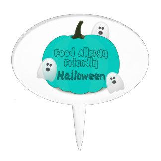 Teal Pumpkin Food Allergy Friendly Halloween Cake Topper