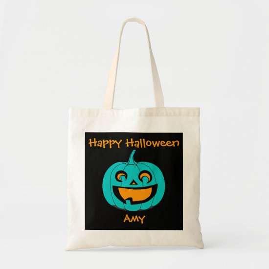 Teal Pumpkin Halloween Treat Bag