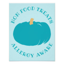 Teal Pumpkin Non Food Treats Allergy Aware Poster