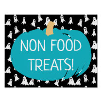 Teal Pumpkin Non Food Treats Allergy Ghosts Poster