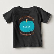 Teal Pumpkin Personalized Allergy Halloween Kids Baby T-Shirt