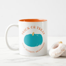 Teal Pumpkin Trick Or Treat Food Allergy Awareness Two-Tone Coffee Mug