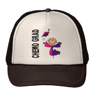 Teal, Purple, and Pink CHEMO GRAD 1 Thyroid Cancer Trucker Hat