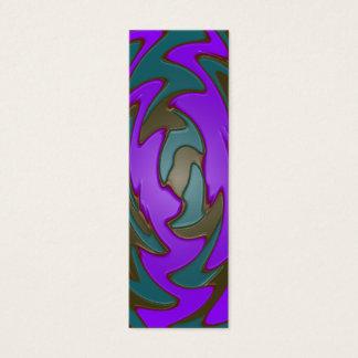 teal purple bookmarks mini business card