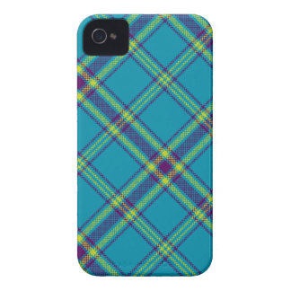 Teal/Purple/Lime Tartan Plaid Blackberry Case