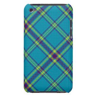 Teal/Purple/Lime Tartan Plaid iPod Case