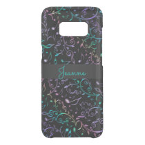 Teal Purple Music Notes Pattern Uncommon Samsung Galaxy S8 Case