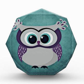Teal & Purple Owl Award
