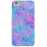 teal, purple, watercolor, pattern barely there iPhone 6 plus case