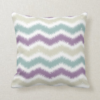 Teal + Purple Zigzag Pillow