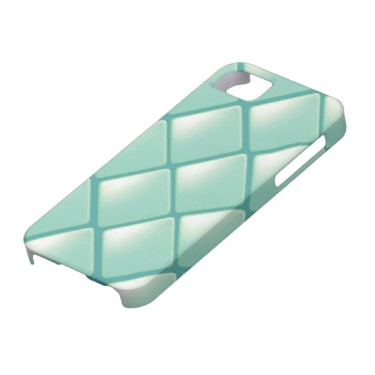 Teal Quilted Diamond Pattern iPhone SE/5/5s Case