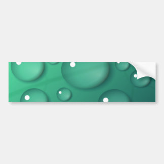 Teal Raindrop Texture Bumper Sticker
