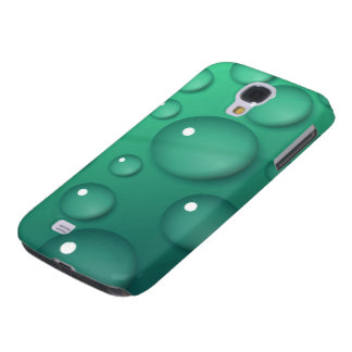 Teal Raindrop Texture Galaxy S4 Cover