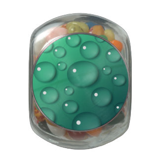 Teal Raindrop Texture Jelly Belly Candy Jars